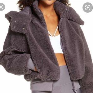 Alo Yoga Foxy Sherpa Jacket Size L - missing hood